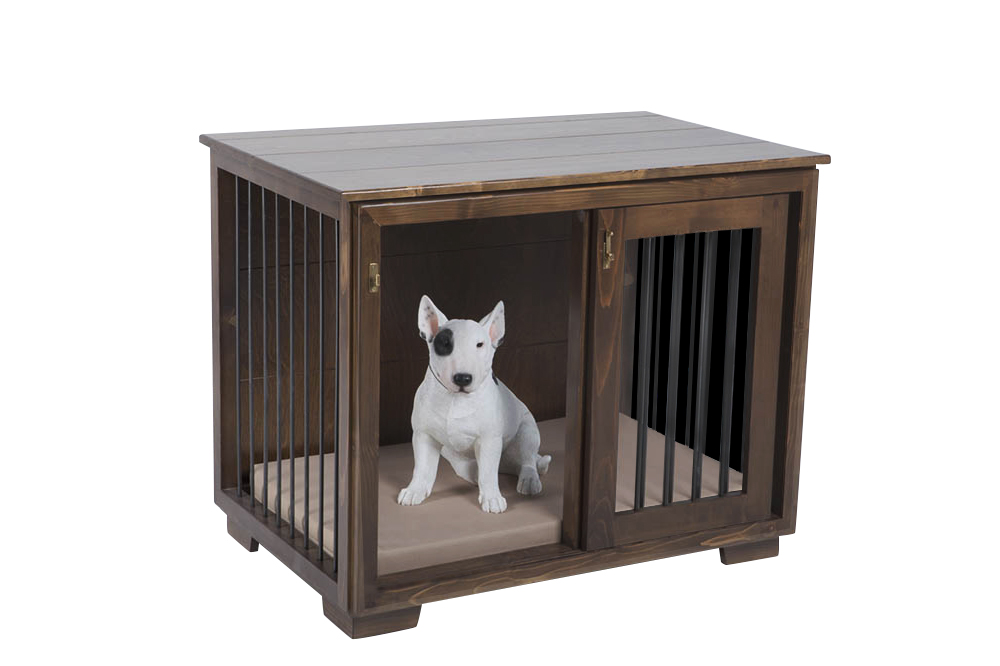 Wooden Kennels & Crates : Dog Kennel with Sliding Door \'Frida\'